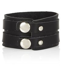 River Island | Black Cuff Bracelet for Men | Lyst