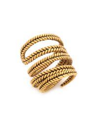 A Peace Treaty - Metallic Yiizh Spiral Twist Ring - Gold - Lyst