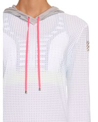 Monreal London | White Perforated Hooded Performance Top | Lyst