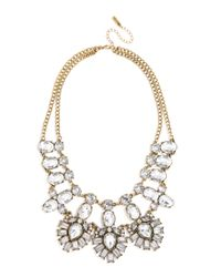 BaubleBar | Metallic Crystal Feather Bib | Lyst