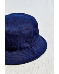 Urban Outfitters - Blue Late Pass Flannel Bucket Hat - Lyst