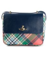 Vivienne Westwood Blue Derby Shoulder Bag
