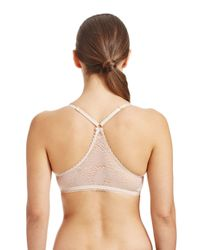 Jessica Simpson | Natural Racerback Front Clasp Underwire Bra | Lyst