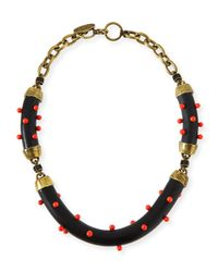 Lela Rose - Multicolor Studded Statement Necklace - Lyst
