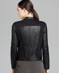 Helmut Lang Black Jacket Washed Leather and Sweatshirt Combo