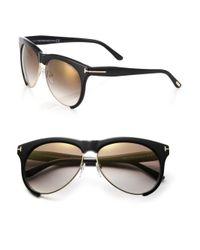 Tom Ford - Black Leona 59Mm Aviator Sunglasses - Lyst