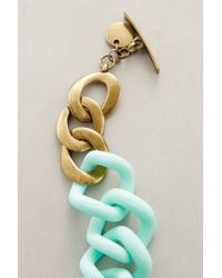 Anthropologie | Green Crescendo Link Necklace | Lyst