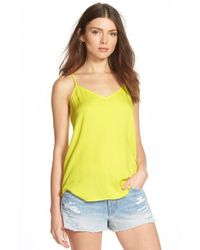 Ella Moss | Yellow 'Stella' Lattice Back Camisole | Lyst