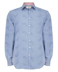 Thomas Pink | Blue Knighton Texture Slim Fit Shirt for Men | Lyst