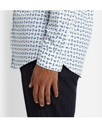 Alexander McQueen | White Slim-Fit Printed Cotton-Poplin Shirt for Men | Lyst