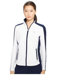 Ralph Lauren | White Colorblocked Full-Zip Jacket | Lyst