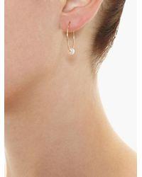 Asherali Knopfer | Metallic 'louka' Gold Hoop Earring | Lyst