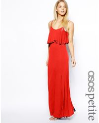 ASOS - Red Maxi Dress With Crop Top - Lyst
