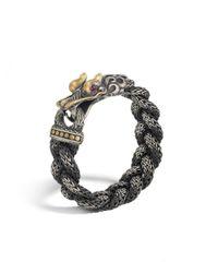 John Hardy | Black Finishing Chain Bracelet With Sapphire Stone for Men | Lyst