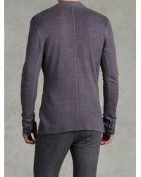 John Varvatos Gray Notch Lapel Sweater Jacket for men