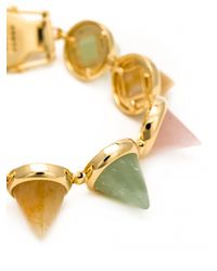 Eddie Borgo | Metallic Gem Stone Cone Bracelet | Lyst