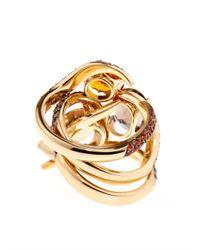 Shaun Leane | Orange Diamond, Sapphire, Quartz & Gold Ring Set | Lyst