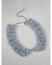 Patrizia Pepe | Metallic Collar-Effect Necklace In Brass And Glass | Lyst