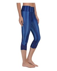 Under Armour - Blue Ua Fly-by Printed Capri - Lyst