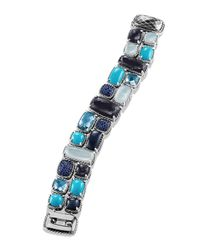 David Yurman - Mosaic Bracelet With Black Orchid And Turquoise - Lyst