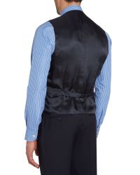 Chester Barrie - Blue Plain Tailored Fit Waistcoat for Men - Lyst