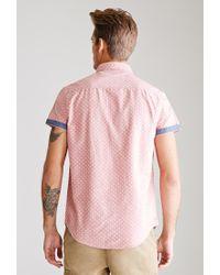 Forever 21 - Pink Polka Dot Oxford Shirt for Men - Lyst