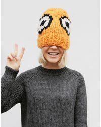 Wool And The Gang | Orange Giles Eek Hat | Lyst