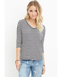 Forever 21 | Black Striped Boxy Top You've Been Added To The Waitlist | Lyst