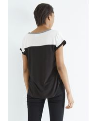 Oasis Black Colour Block T-shirt