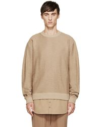 D by D - Natural Camel Layered Sweater for Men - Lyst