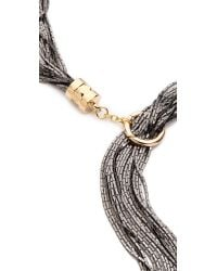 Fallon | Gray Liquid Tail Lariat Necklace | Lyst