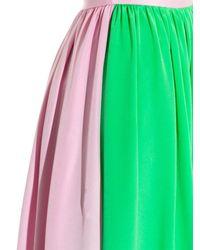 ROKSANDA Blue Bi-colour Silk Skirt