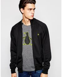 Original Penguin | Black Kirk Zip Through Sweater for Men | Lyst