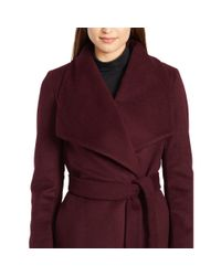 Ralph Lauren - Purple Draped Wool-blend Coat - Lyst