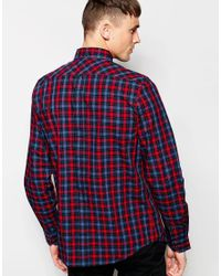 Ben Sherman - Blue Shirt With Tartan Check for Men - Lyst