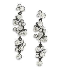 Cara | Black Linear Drop Earrings | Lyst