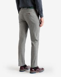 Ted Baker - Gray Veerity Diamond Jacquard Suit Trousers for Men - Lyst