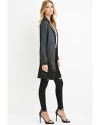 Forever 21 | Black Contemporary Longline Metallic Blazer | Lyst