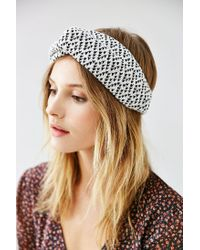 Urban Outfitters - Black Cozy Cabin Headwrap - Lyst