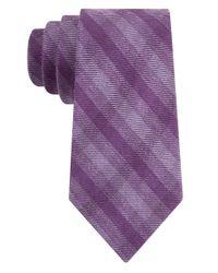 Calvin Klein | Purple Linen-Silk Tie for Men | Lyst