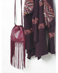Free People | Purple Womens Fleetwood Fringe Crossbody | Lyst