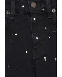 Rag & Bone Black Paint-splattered Mid-rise Skinny Jeans