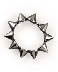 Eddie Borgo Gray Large Gunmetal Cone Bracelet