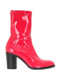 Strategia Red 80mm Stretch Naplak Effect Ankle Boots