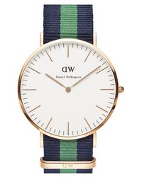 Daniel Wellington | Green 'classic Warwick' Nato Strap Watch | Lyst