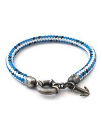Anchor & Crew | Blue Dash Salcombe Rope Bracelet for Men | Lyst