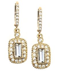 Givenchy | Metallic Gold-tone Crystal Drop Earrings | Lyst