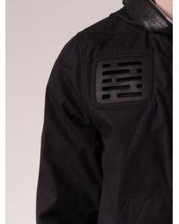 Rick Owens Black Cut Out Chest Jacket for men