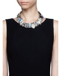 Assad Mounser | Metallic Metal Spike Rhinestone Collar Necklace | Lyst