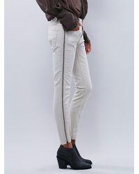 Free People - White Womens Levon Zipper Skinny - Lyst